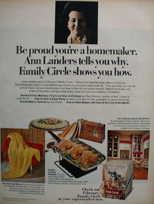 Ann Landers Proud You Are Homemaker Ad. 1968