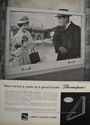 Libbey Owens Ford Thermopane Ad 1961