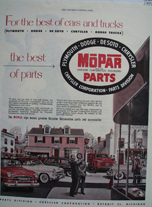 Mopar Parts For Best Cars And Trucks Ad 1954