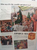 Lipton Tea Ad World's Greatest 1938