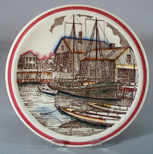 Vernon Kilns Designer Series Plate The Cove