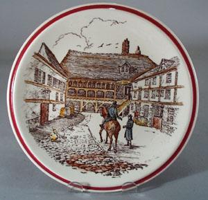 Vernon Kilns Designer Series Plate The Town