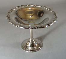 Silverplate compote with elegant design