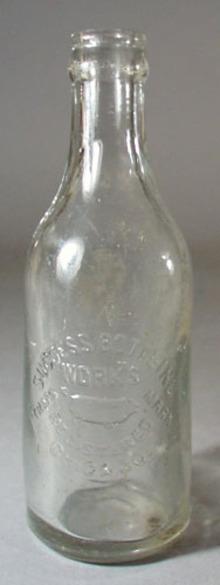 Success Bottling Works Bottle, shows pig
