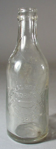 Success Bottling Works Bottle, shows pig