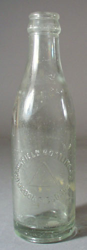 Brookfield Bottling Co  Bottle, shows triangle