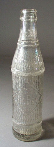 Big Ben Beverages bottle.8 oz clear bottle