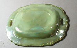 Summitt Glass Iridescent Jadite Small Tray