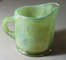 Summitt Glass Jadite Iridescent  Measuring Cup