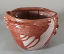 Art Pottery vase with drip glaze design