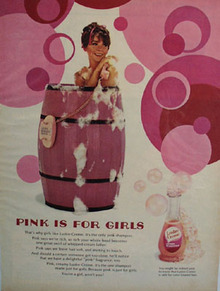 Lustre Crme Shampoo Pink Is For Girls Ad 1967
