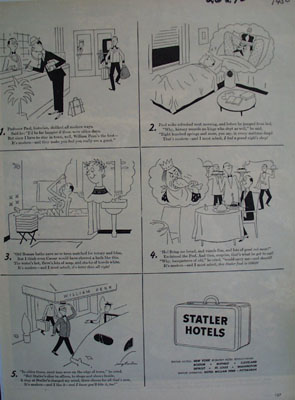 Statler Hotels And Professor  Paul Ad 1950