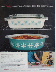 Pyrex Casserole Todays Look for Todays Cook Ad 1959