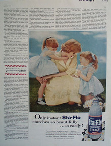Sta Flo Stacrh Mother And Twin Girls Ad 1959