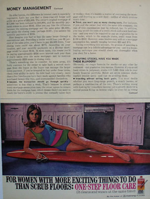 One Step Wax Woman On Surfboard Ad 1967