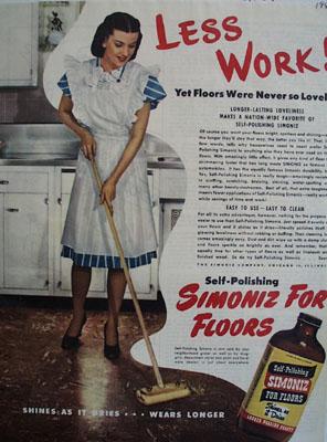 Siimoniz Floors Never So Lucky Ad 1945
