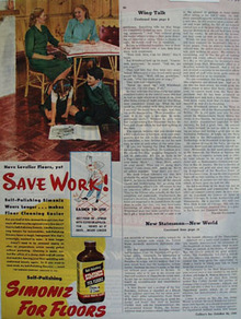 Simoniz Boy And Girl On Floor Ad 1945