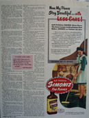 Simoniz My Floors Stay Beautiful Ad 1946