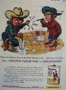 Simoniz Little Cowboys and Squirt Guns Ad 1959