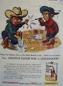 Simoniz Little Cowboys and Squirt Guns Ad 1959