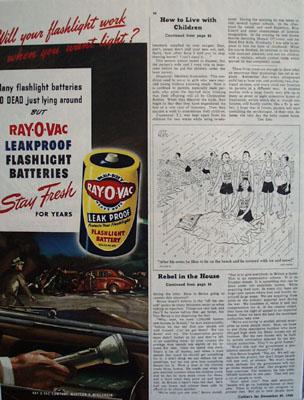 Ray O Vac And Road Accident At Night Ad 1945