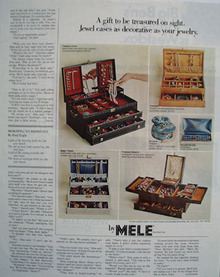Mele jewelry Cases To Be Treasured Ad 1967