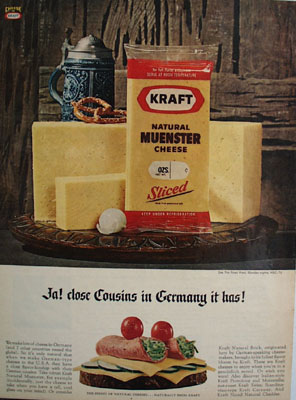 Kraft Close Cousins In Germany It Has Ad 1967