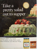 Kraft Miracle Whip and Pretty Salad Ad 1967