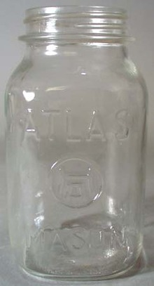 Atlas Mason Square Clear Qt Canning Jar