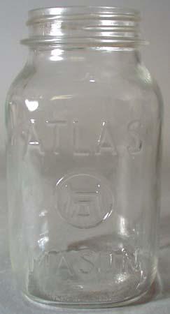 Atlas Mason Square Clear Qt Canning Jar