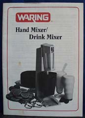 Waring Hand Mixer Drink Mixer Book