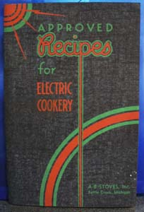 Recipes and Instructions For Electric Range 1936
