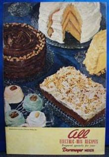 Dormeyer Mixer Electric Mix Recipes 1946