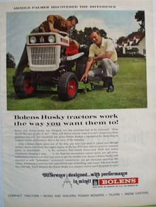 Bolens Tractors And Arnold Palmer Ad 1968