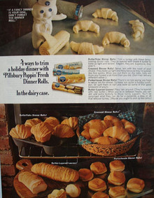 Pillsbury Doughboy and Dinner Rolls Ad 1967