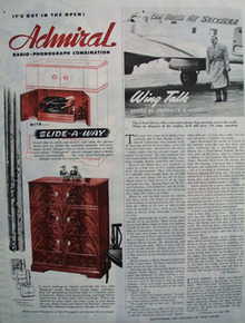 Admiral Slide Away Ad 1946