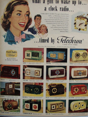 Telechron Clock Radio Gift To Wake Up To Ad 1951