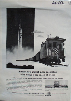 Assn. American Railroads Rails of Steel Ad 1959