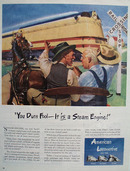 American Locomotive It Is A Steam Engine Ad 1944