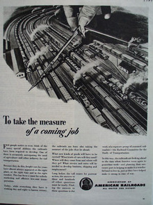 Assn American Railroads Measure Coming Job Ad 1944