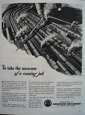 Assn American Railroads Measure Coming Job Ad 1944