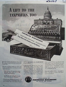 American Railroads Lift to Taxpayers Ad 1944