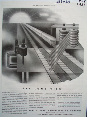 Edw G Budd The Long View Ad 1937