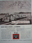 Burlington Route A Symbol More Than A Train Ad 1944