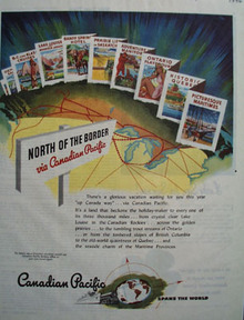 Canadian Pacific North Of The Border Ad 1946