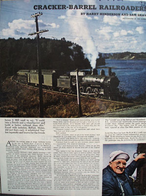 Cracker Barrel RR Article 1945