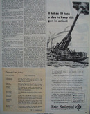 Erie Railroad Keeps Gun In Action Ad 1944
