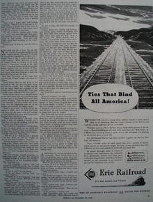 Erie Railroad Ties That Bind All America Ad 1944