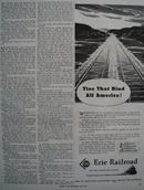 Erie Railroad Ties That Bind All America Ad 1944