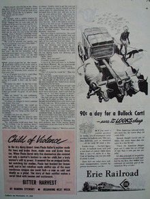Erie Railroad 90 cents Day For Bullock Cart Ad 1945